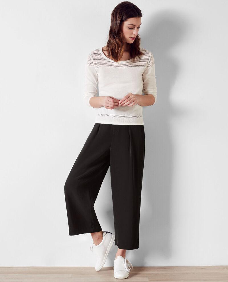 pantalon large et fluide noir chouette comptoir des cotonniers. Black Bedroom Furniture Sets. Home Design Ideas