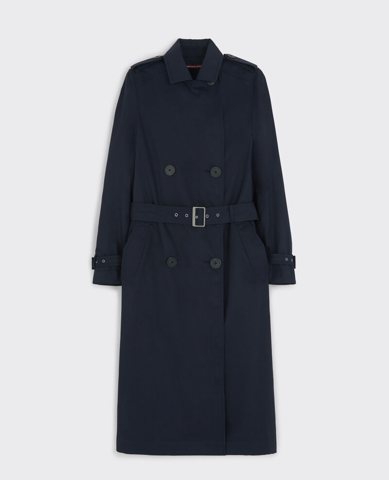Trench long classique avec doublure amovible Dark navy Cable