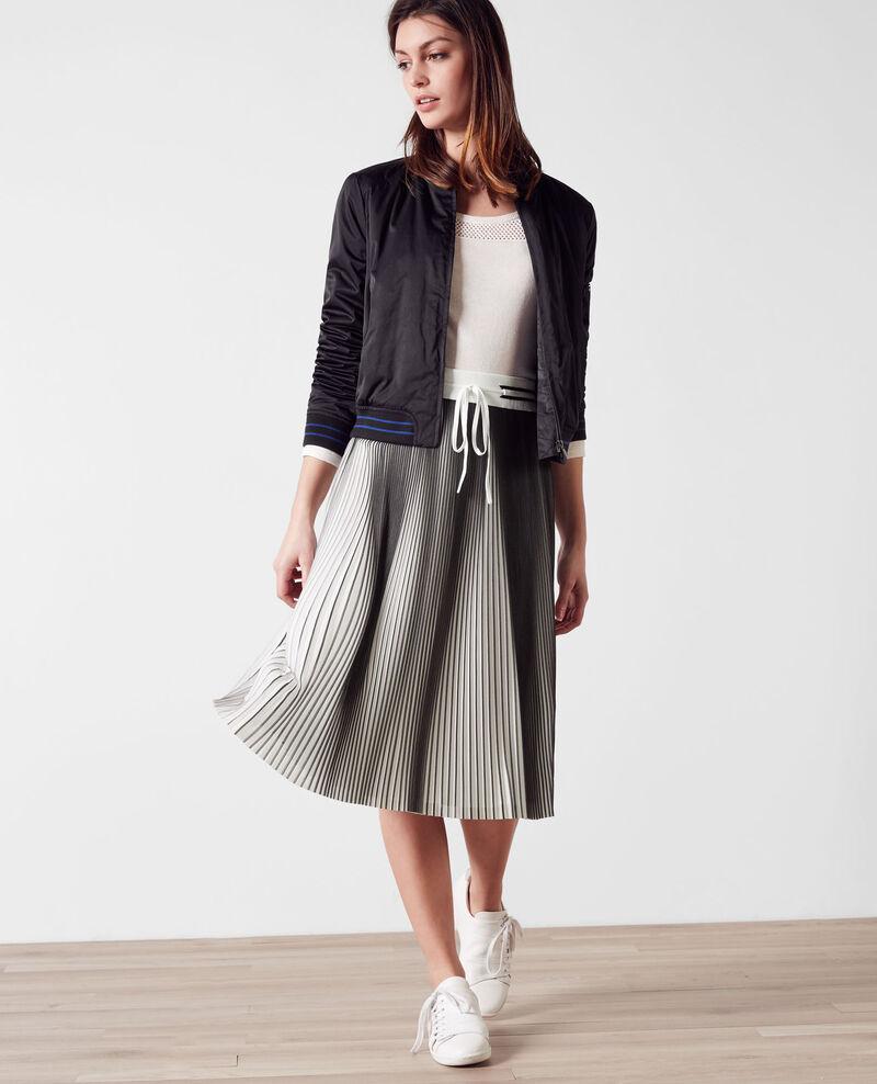 Jupe plissée bicolore Black/white Carine