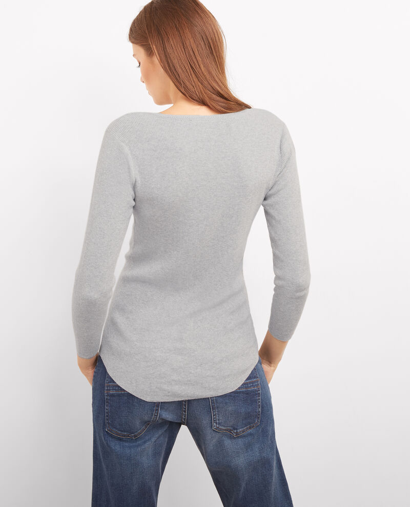 Cotton and cashmere jumper Light gris chine Bacardi