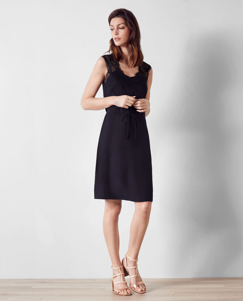 Lingerie-style dress Dark navy Canuit