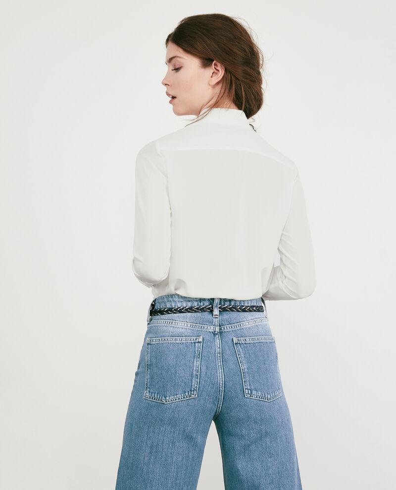 Klassische Bluse aus Seide Off white Derta