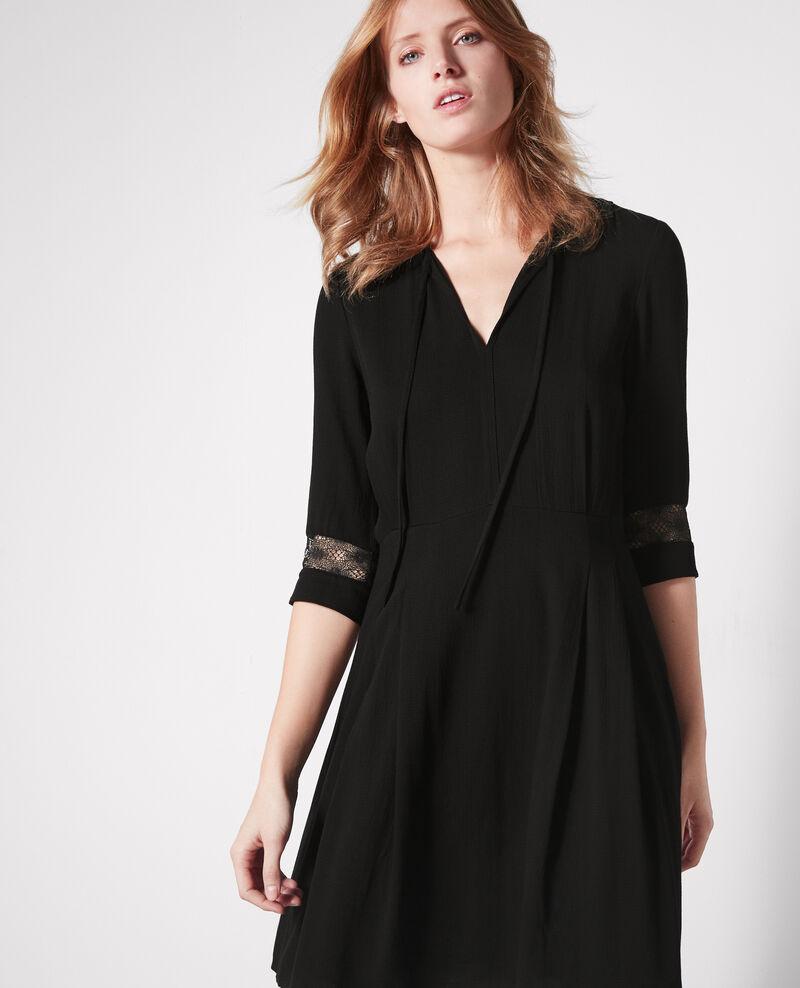 Robe avec d tails de dentelle noir catalogne comptoir des cotonniers - Robe comptoire des cotonniers ...
