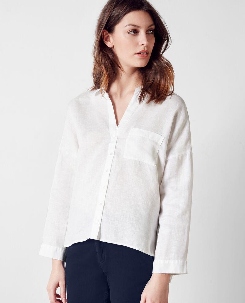 chemise large en lin blanc cinecourt comptoir des. Black Bedroom Furniture Sets. Home Design Ideas