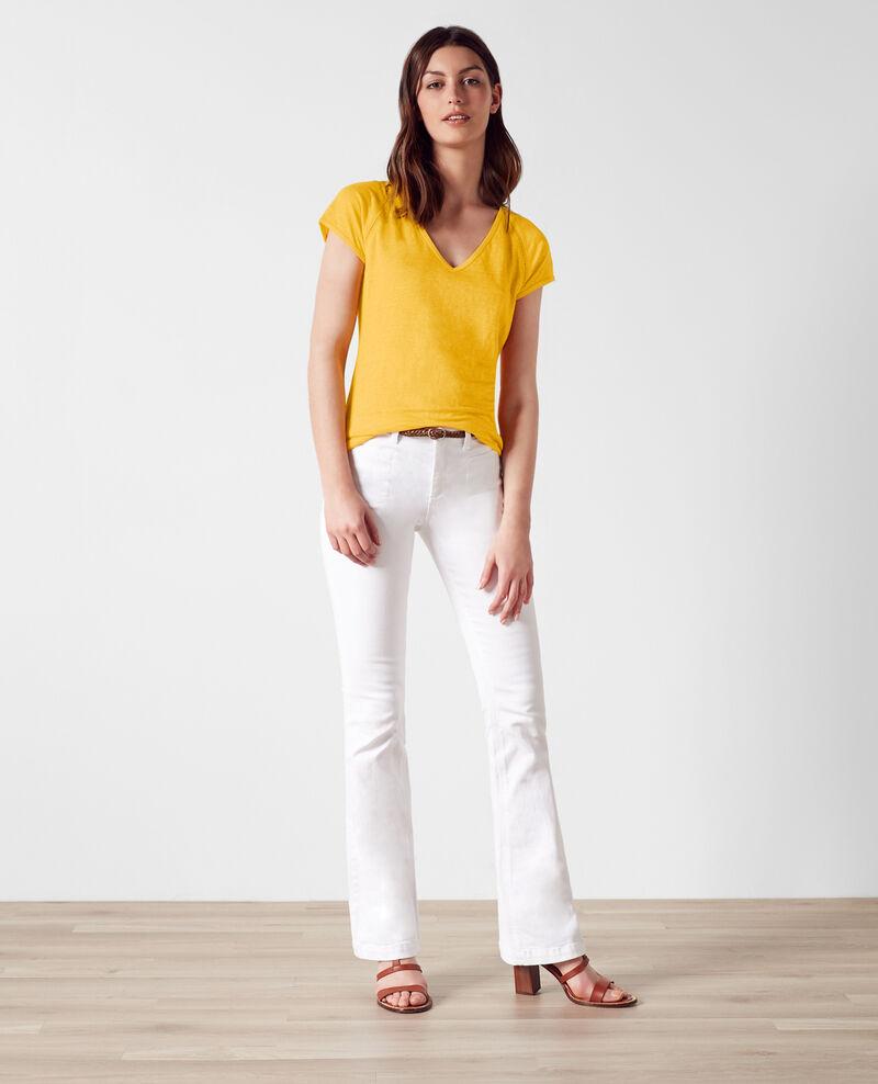 Camiseta de lino Crayola Caramel