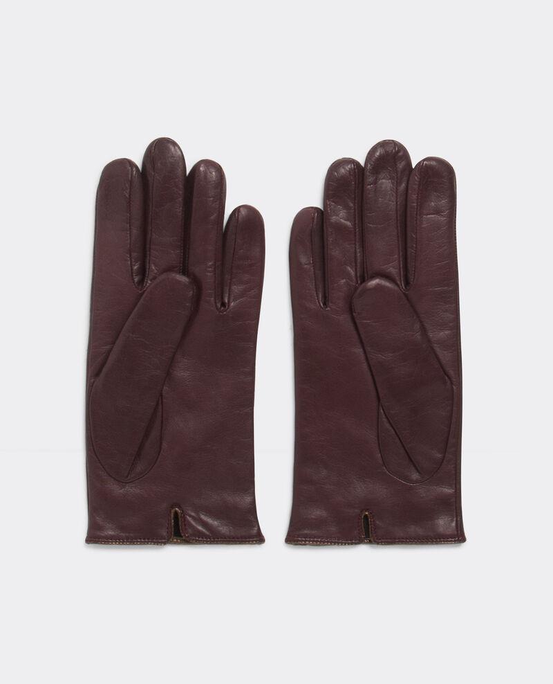 Guantes con piel de becerro maroon bogant comptoir des for Guantes de piel madrid