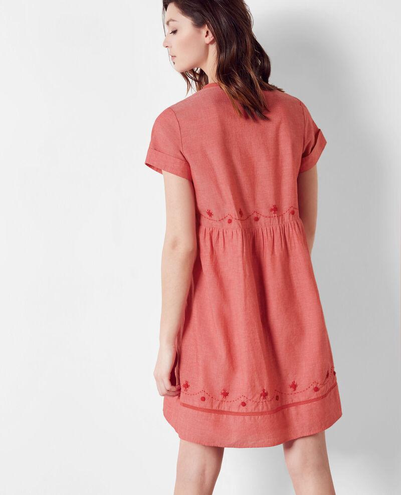 Kleid mit Stickereidetails Tomette Cassis