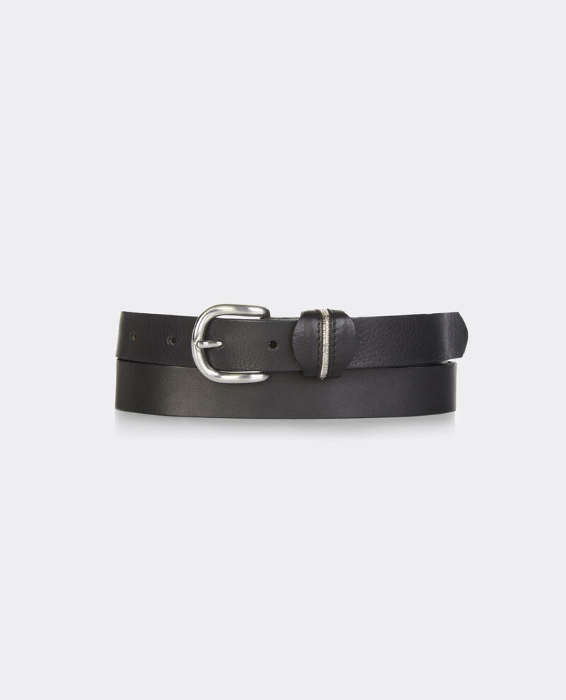 Cinturón de cuero Noir Bambou