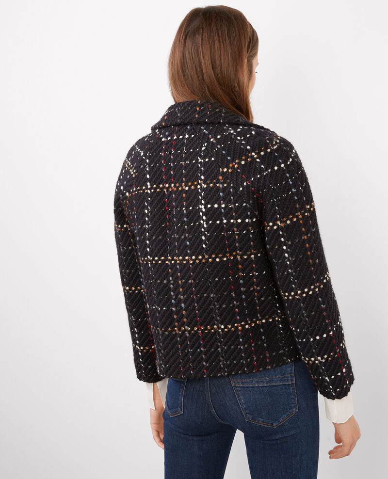 Chaqueta corta de tweed Dark ocean Blink