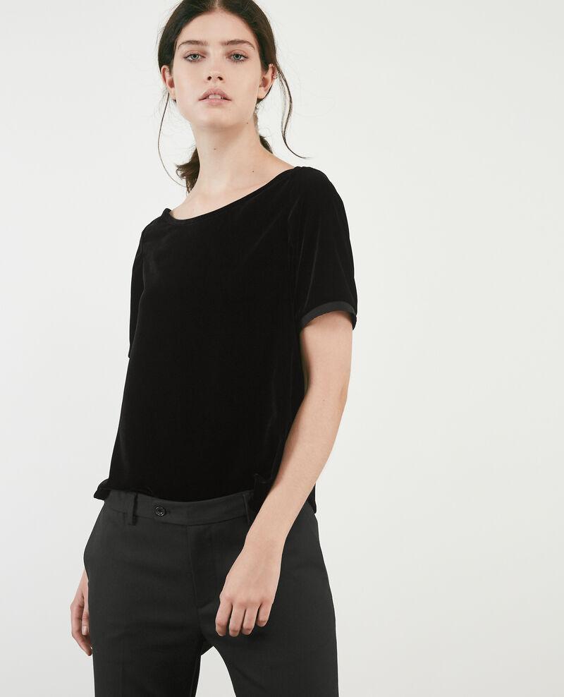 Velour t-shirt Noir Doremifa