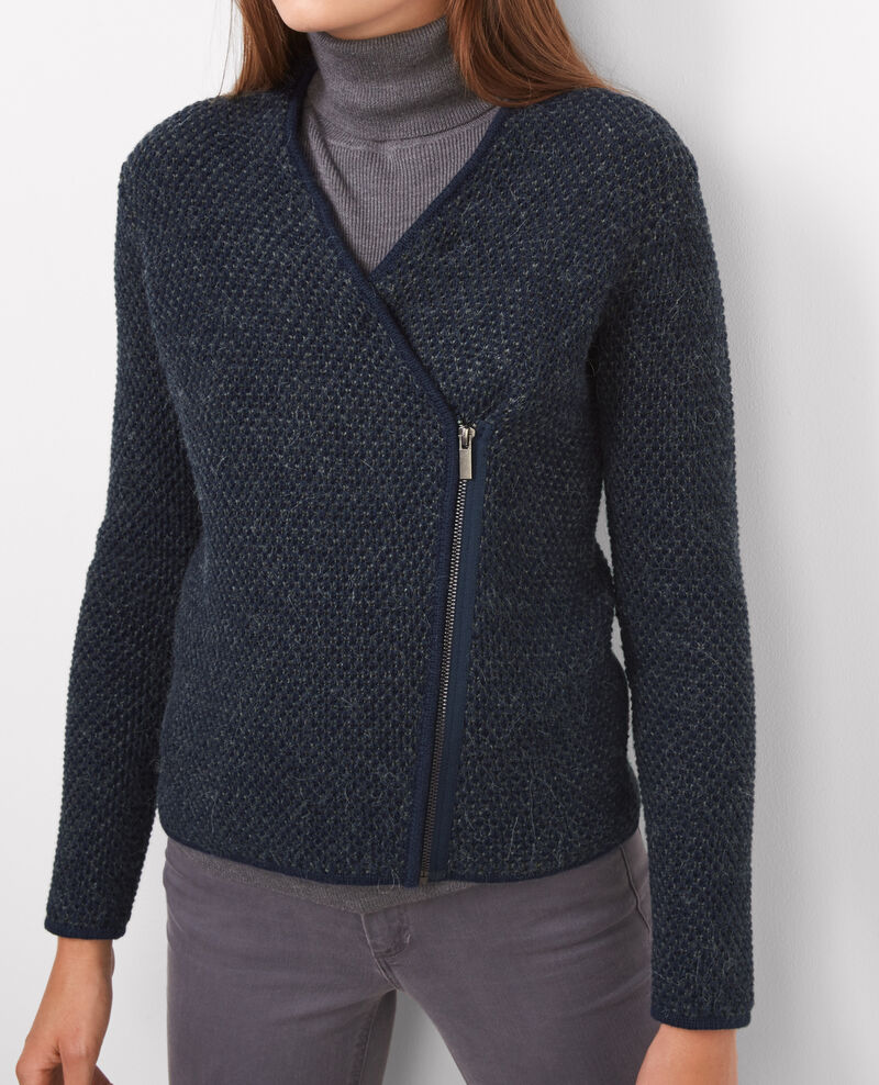 Cardigan court zippé Twilight/grey Bimousse