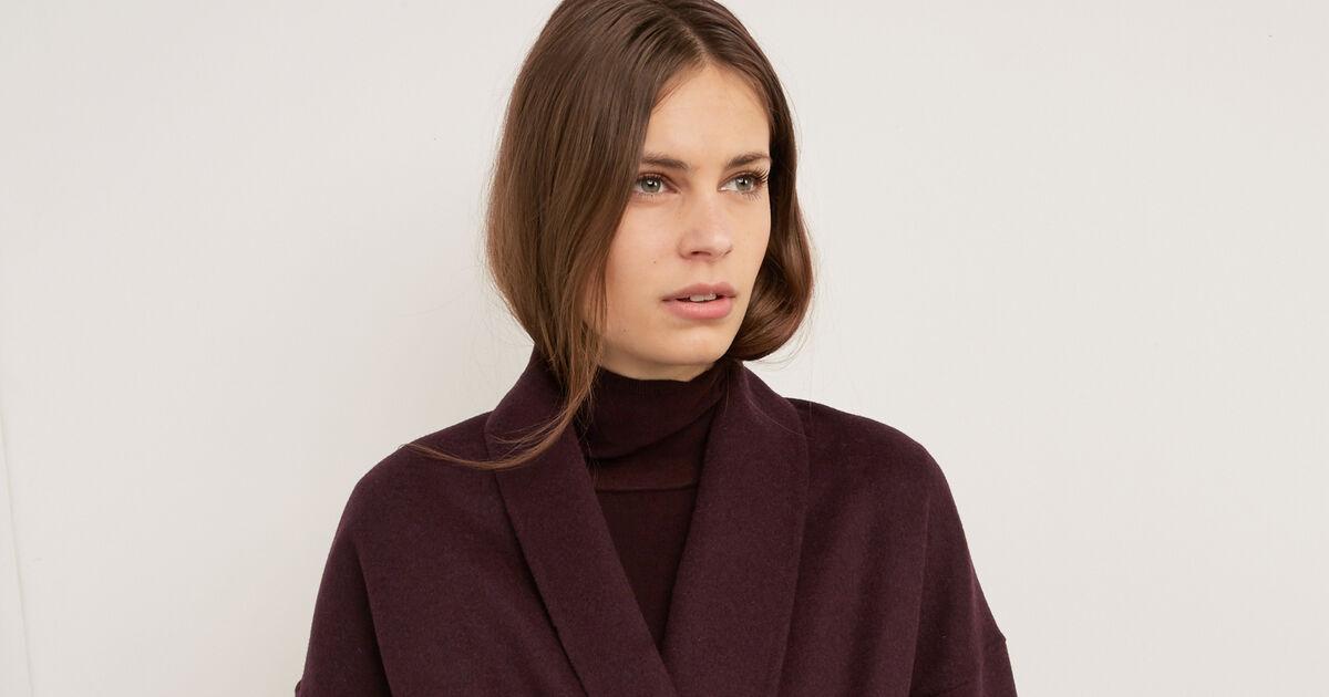 Manteau avec laine maroon bonbi comptoir des cotonniers - Comptoir des cotonniers recrutement ...