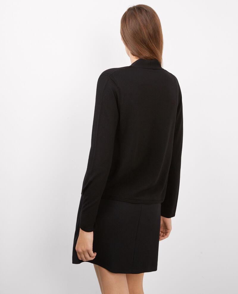 Cárdigan corto de lana merino Noir Brad