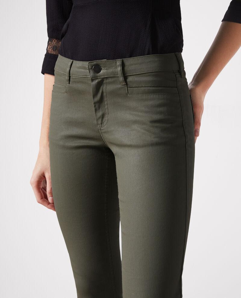 """Jeans slim résiné """"Ma demoiselle"""" Army Crocodile"""