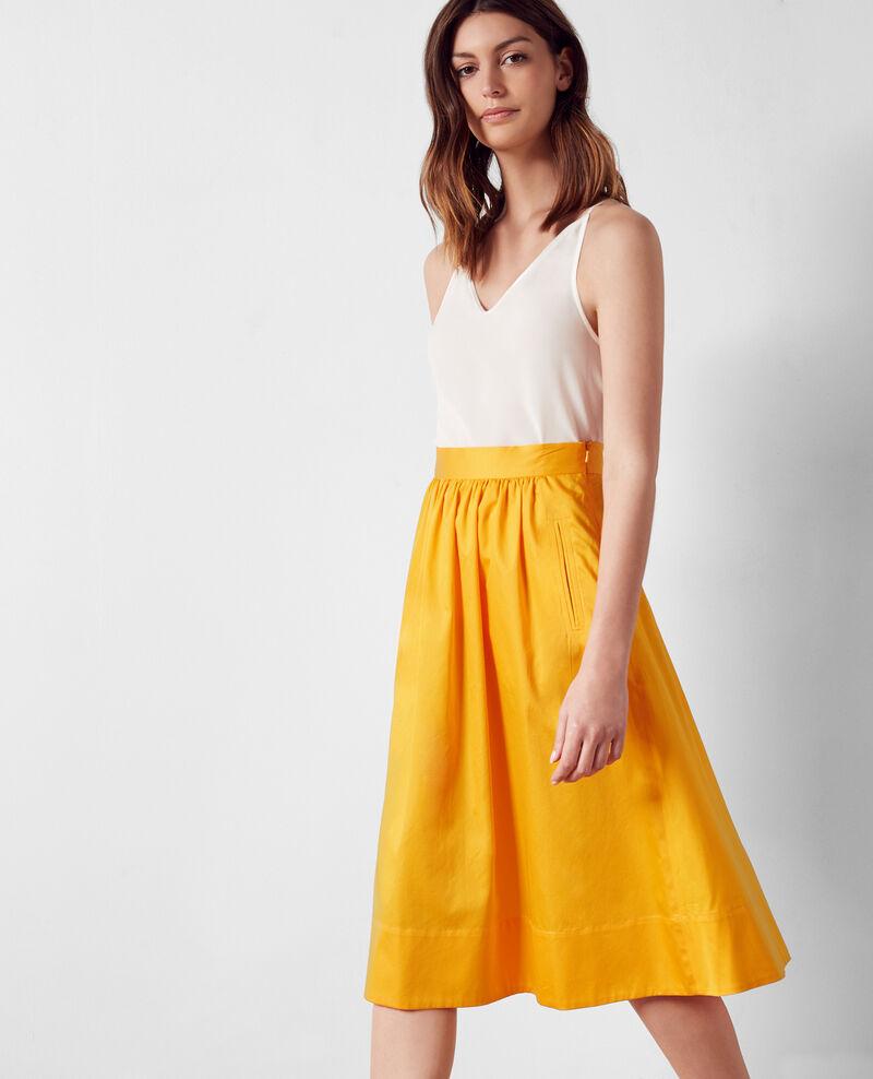 Cotton satin skirt Crayola Corgeat