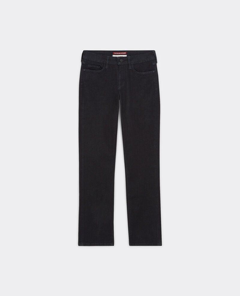 "Jeans rectos cropped ""Rendez-Vous"" Raw Bemol"