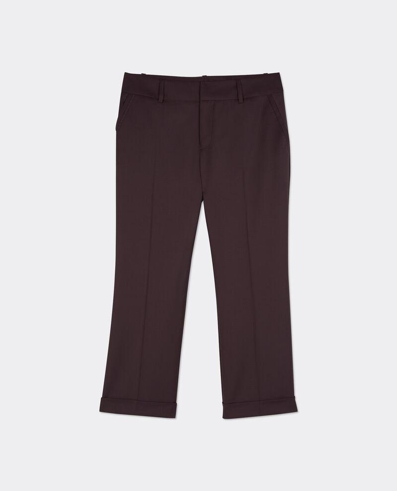 Pantalon office en laine Maroon Baterville