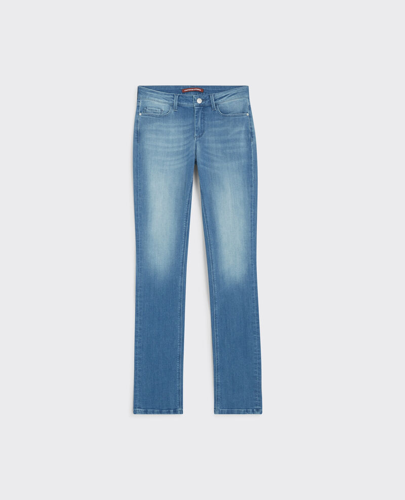 """Girl in the wind"" straight jeans Light surf blue Cube"