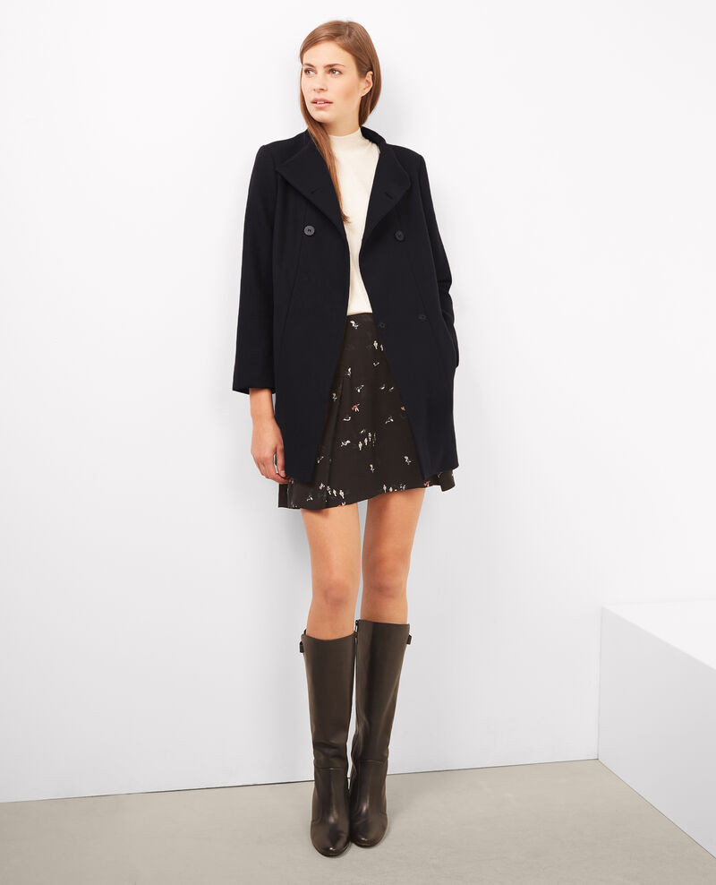 Cotton wool coat Noir Bacran