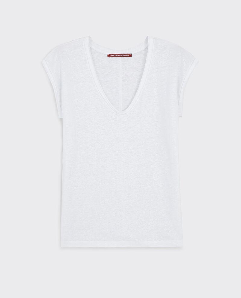 Camiseta irisada de lino Blanc Citron