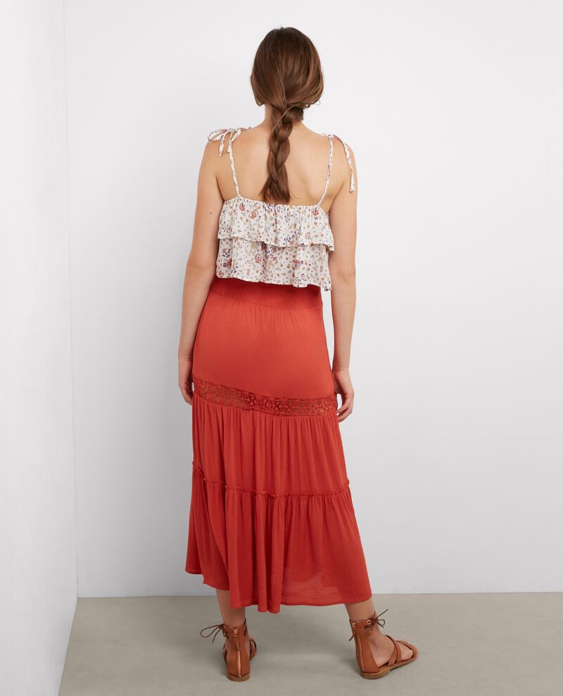 Maxi skirt with lace detail Blush Acacia