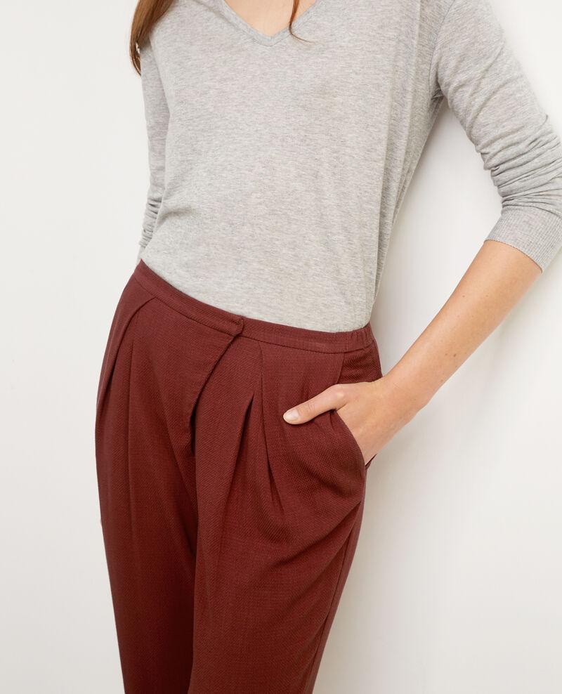 Pantalón fluido con cierre asimétrico Velvet Baguette