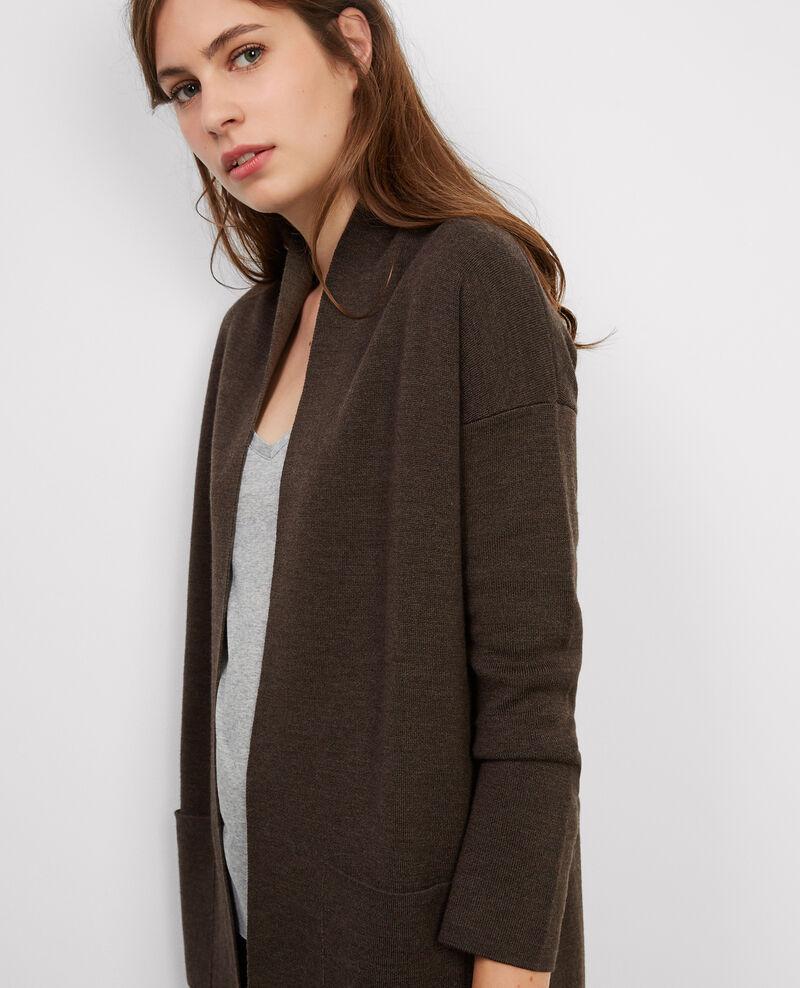 Cárdigan-abrigo de lana Marengo chine/chestnut chine Bosko
