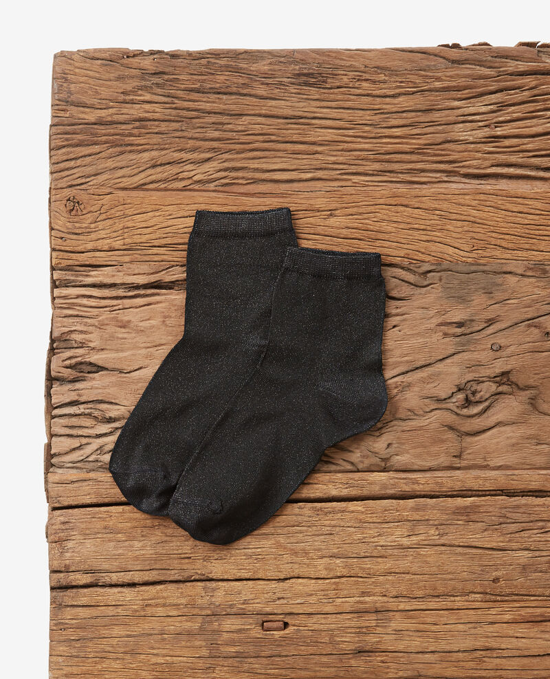 Schimmernde Socken Noir Daussette