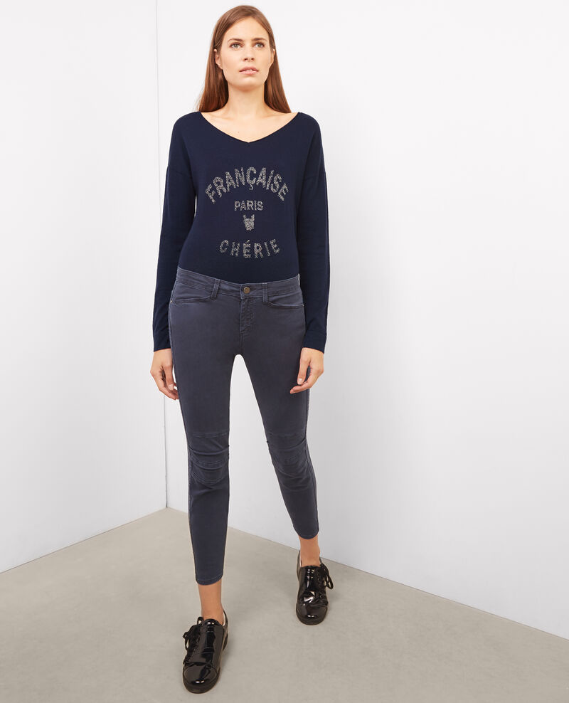 Shiny slogan jumper Twilight Buck