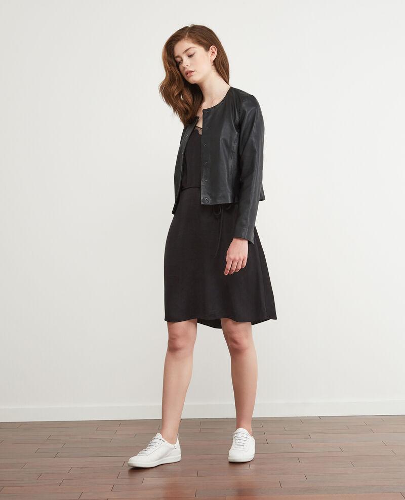Camisole slip dress Noir Danuit