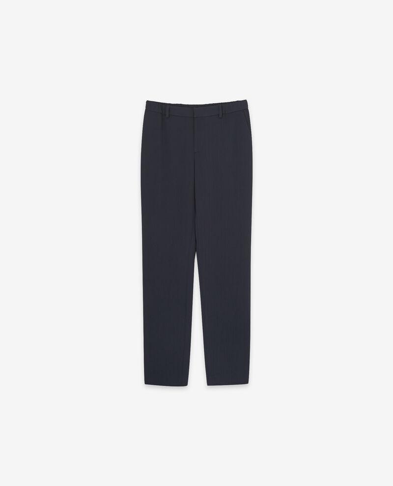 Crepe trousers Navy Detampe