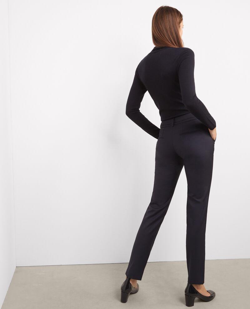 Pantalon tailleur en laine Dark navy Vrikala