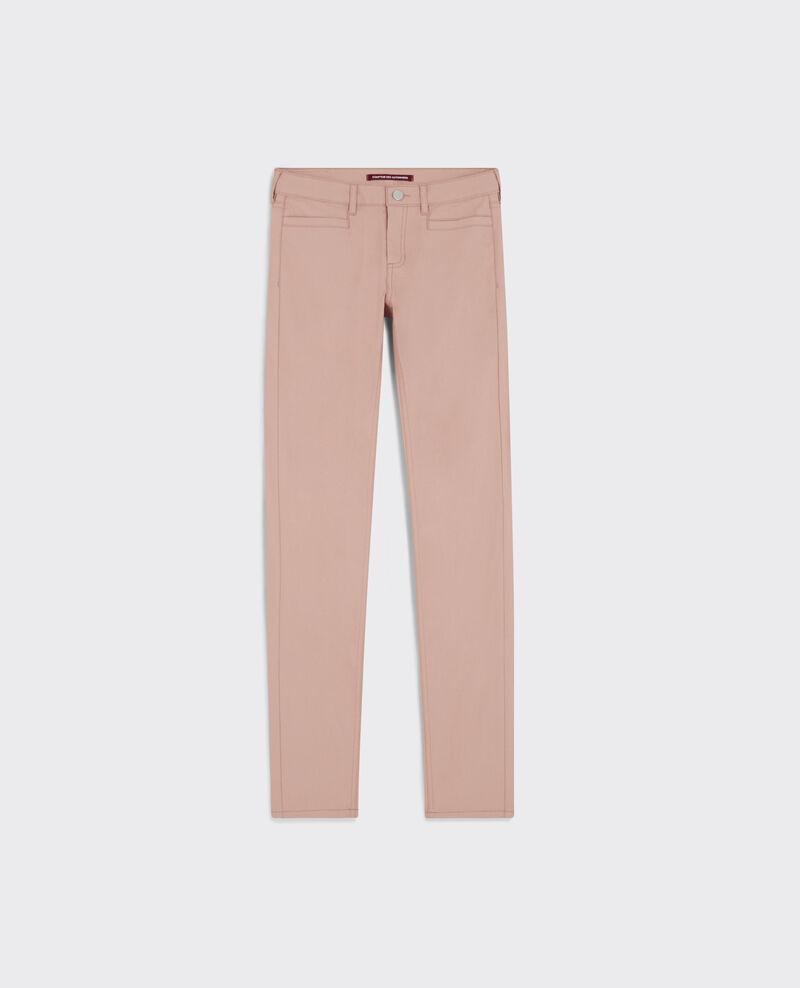 "Jeans slim resinados ""Ma demoiselle"" Peach Crocodile"