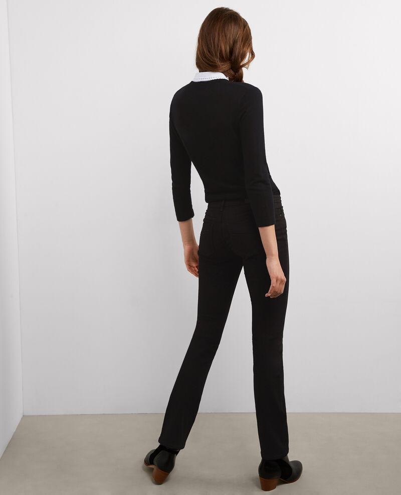"""Jeans de corte recto """"Fille dans le vent"""" Noir Bellagio"""