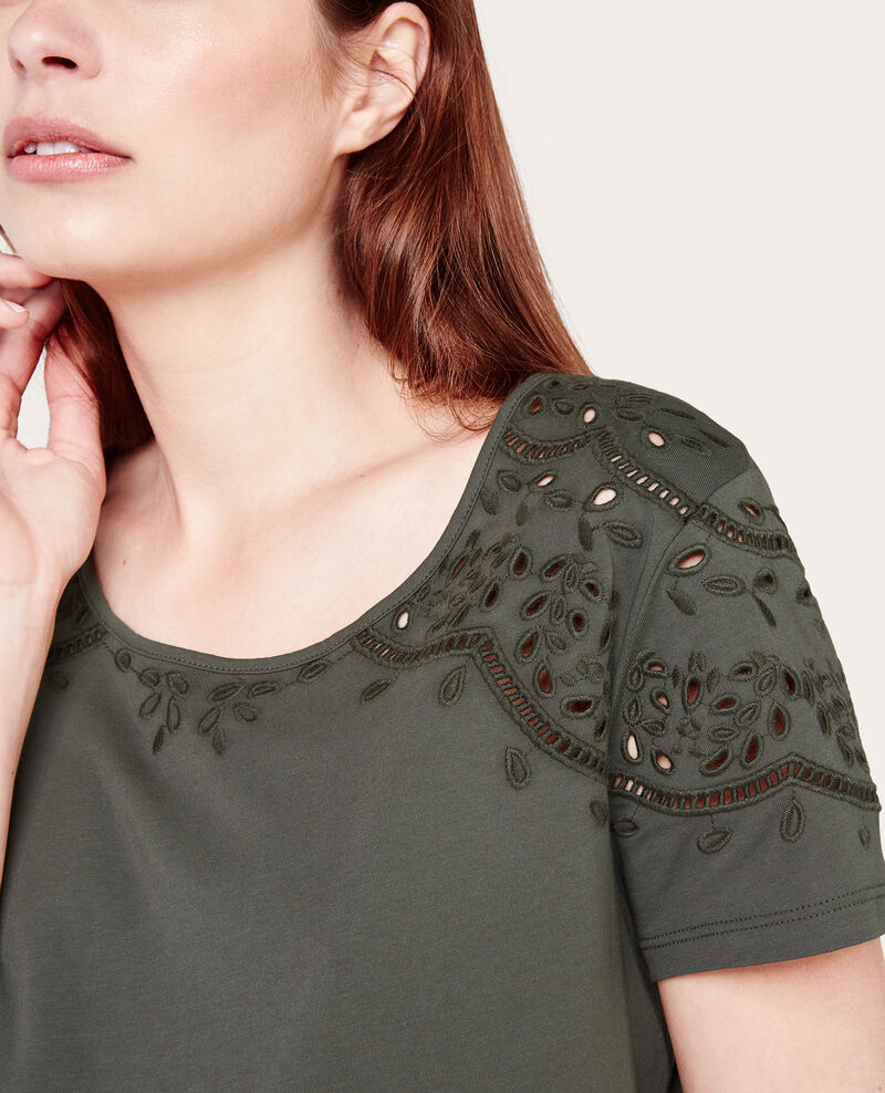 Camiseta de cuello redondo Battle green Abbinato