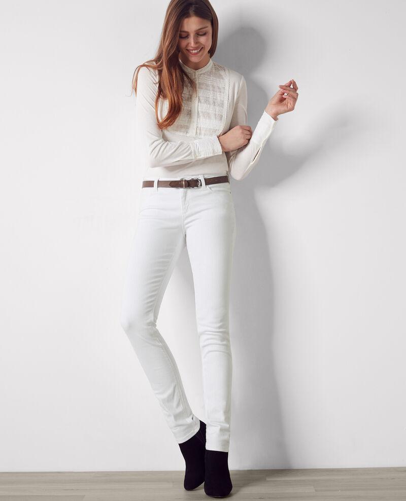 "Slim-Jeans ""Ma demoiselle"" Off white Cibou"