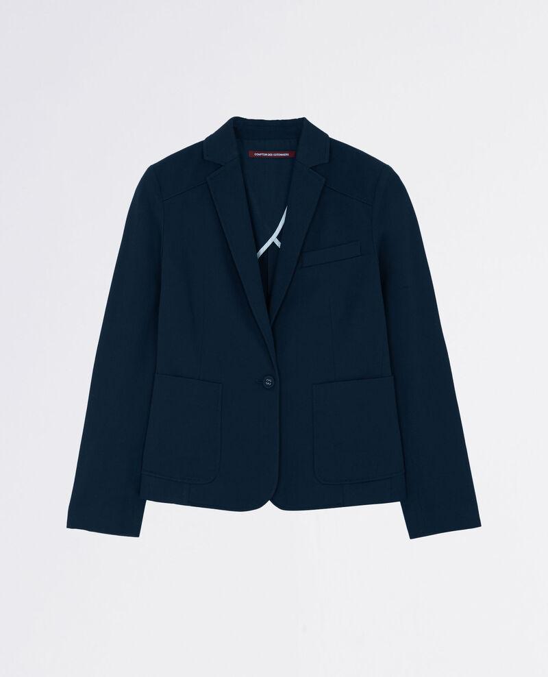 Veste tailleur en coton Midnight blue Chatillon