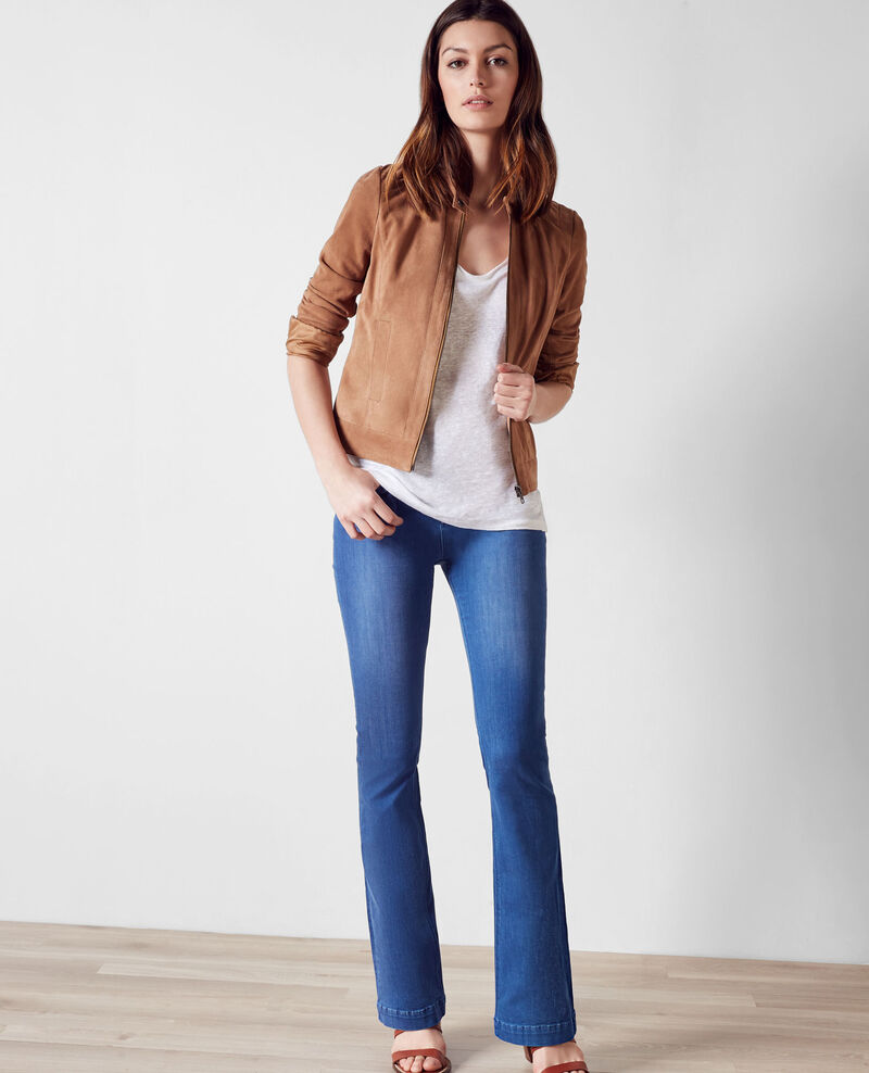 """Jeans flare taille haute """"Folie douce"""" Cristal blue Clairiere"""