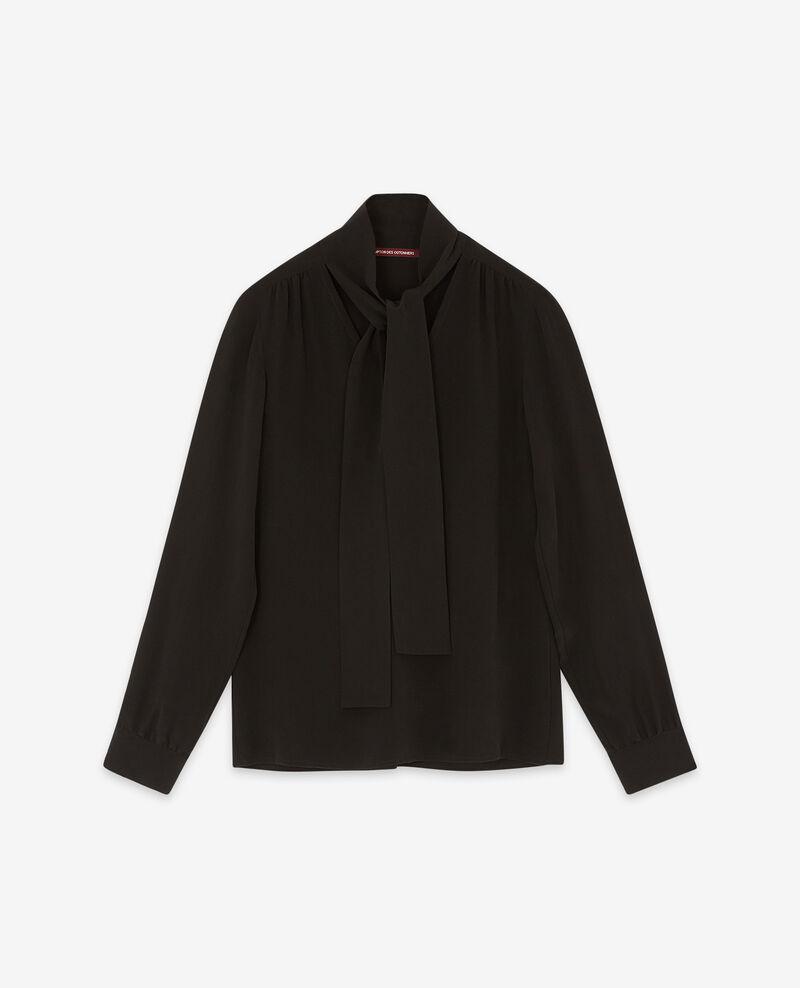 Seiden-Hemdbluse Noir Delivera