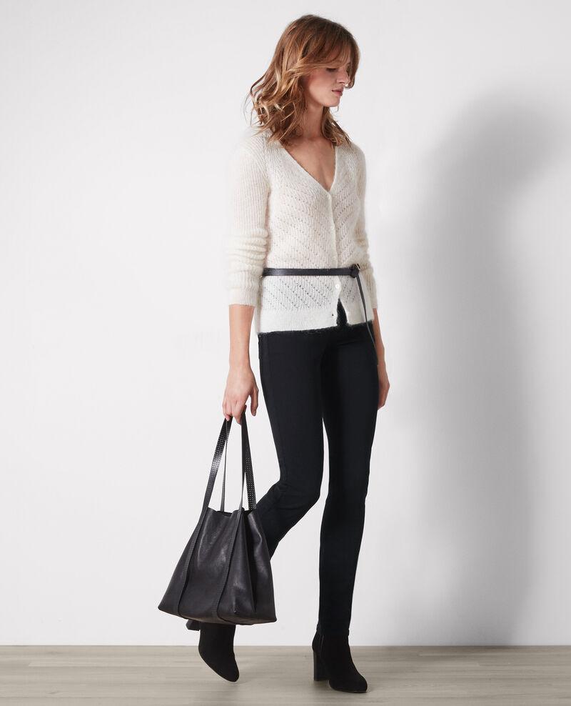 Fille dans le vent velvety-feel straight jeans  Noir Cigogne