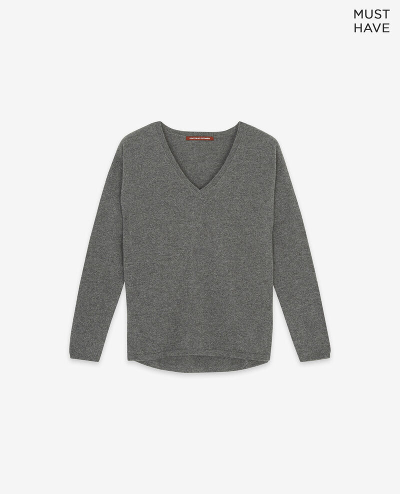 Pull en 100% cachemire Dark heather grey Dudoux
