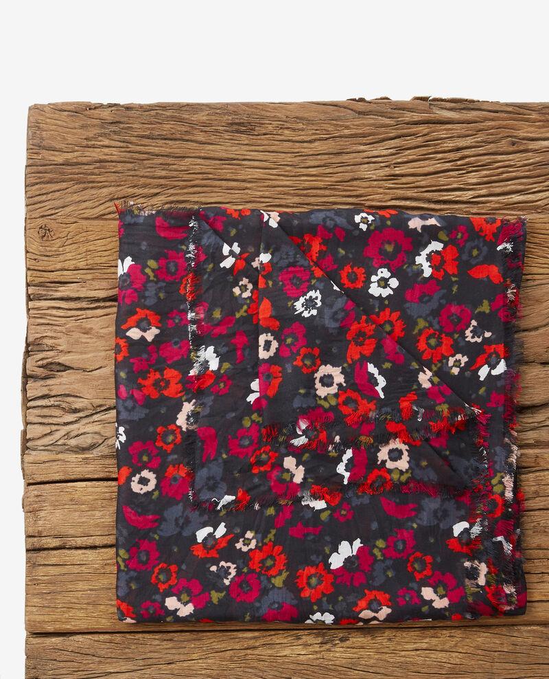 Foulard imprimé effet crinkle Poppies black Daccord
