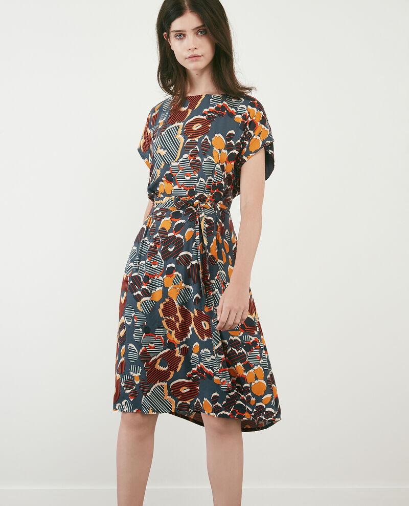 Printed loose dress Shaft curcuma Daurelie