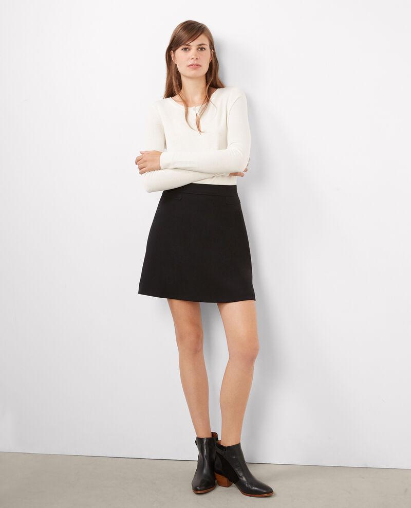 Falda corta estilo de los 70 Noir Bada