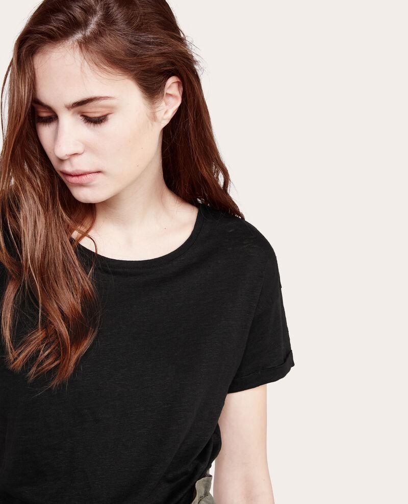 Camiseta 100% lino Noir Acerolas