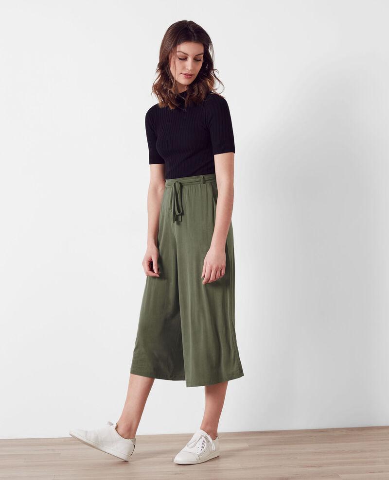 pantalon esprit jupe culotte fluide veronese cavaliere comptoir des cotonniers. Black Bedroom Furniture Sets. Home Design Ideas
