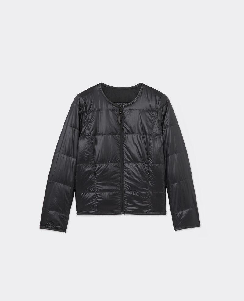 Doudoune bi-matière Noir / noir Siknit