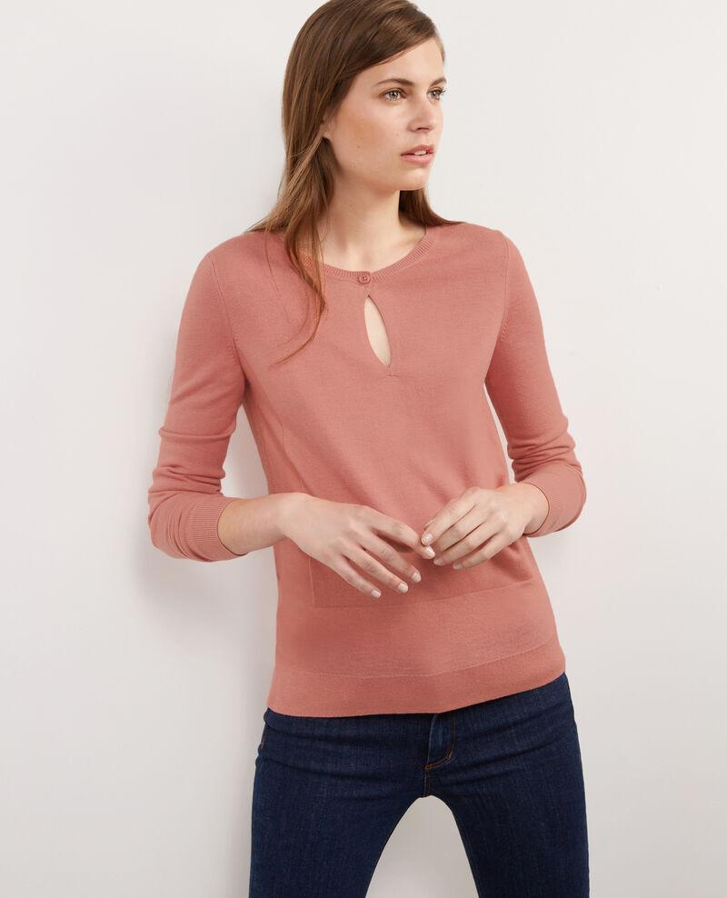 Jersey fino con lana Terracotta Bernard