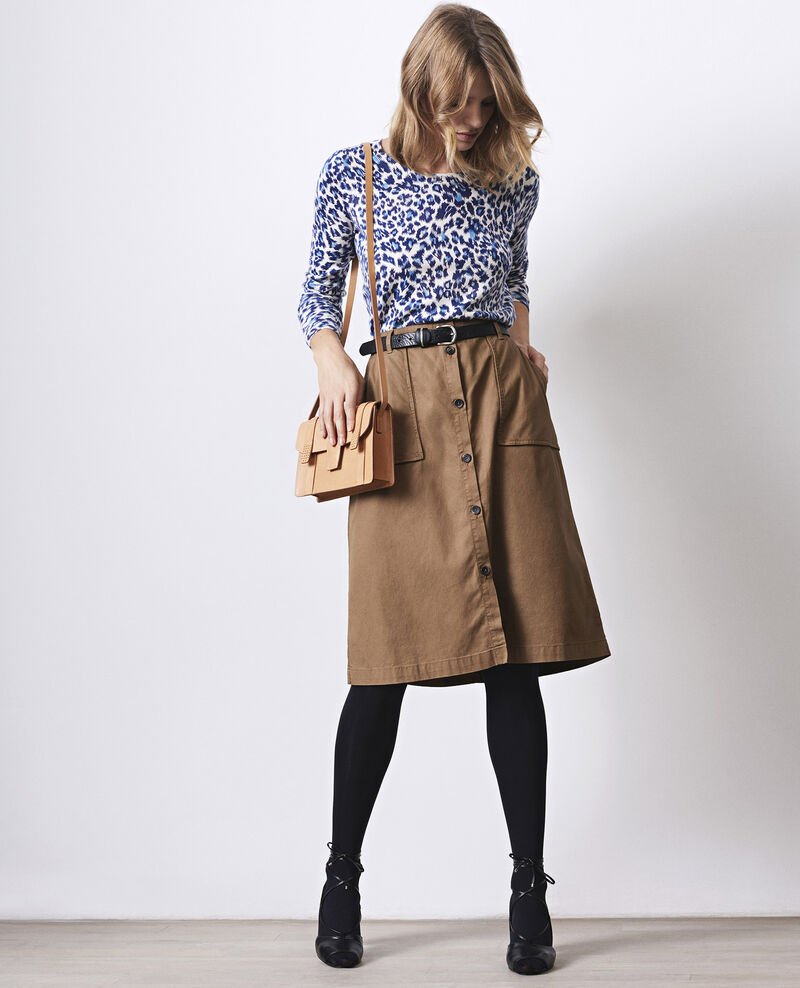 Safari-style midi skirt Bronze Cadette