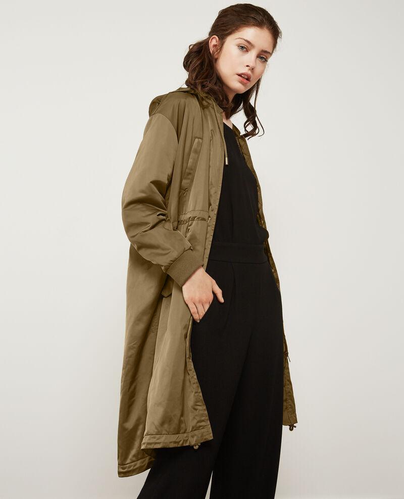 Parka avec capuche amovible light kaki daccuerdo - Manteau comptoir des cotonniers hiver 2012 ...
